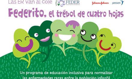 EERR. Las Enfermedades Raras van al cole: «Federito, el trébol de cuatro hojas»