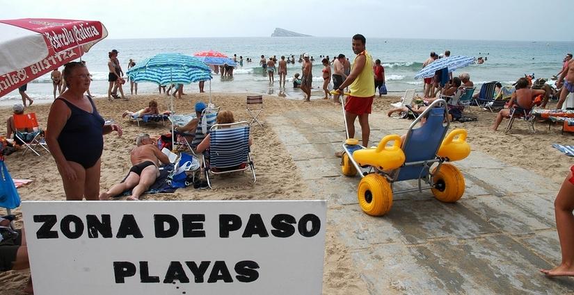 Benidorm playa accesible