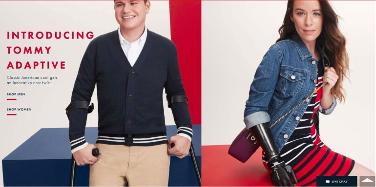 Tommy Hilfigher y su  colección de ropa adaptada para adultos: Adaptive.