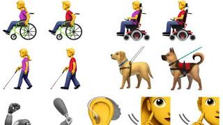 Emojis para representar la discapacidad. Propuesta de Apple.