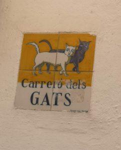 Calle de los gatos Plaza del Castillo