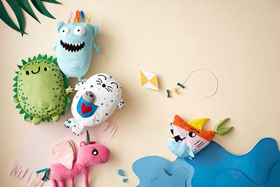 Peluches diseñados por niños IKEA
