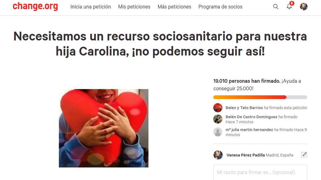 Change.org #unasolucionparacarolina