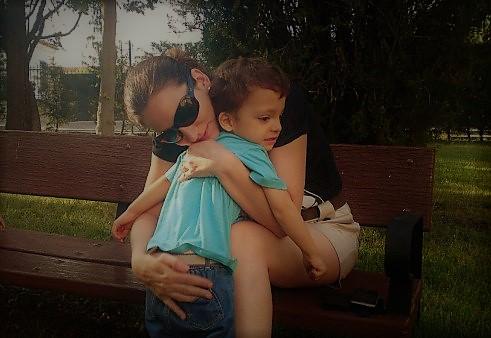 Abrazando a Rodrigo. Autismo