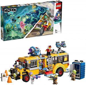 Autobús de Lego hidden side.Es amarillo, como los escolares americano.
