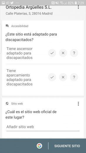 Google maps accesibilidad
