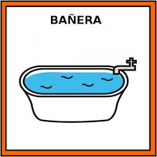 Pictograma bañera ARASAAC. Trabajando rutina escolar