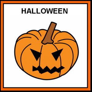 pictograma con una calabaza dehalloween
