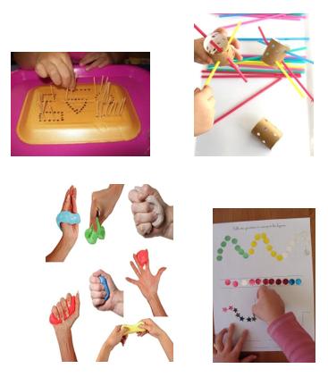 Motricidad fina, actividades con plastilina, pinchos, etc. y educación especial a distancia