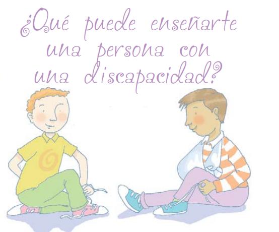 Ni más ni menos. Aparecen dos niños, uno de ellos está enseñando a otro a atarse las zapatillas con una sola mano
