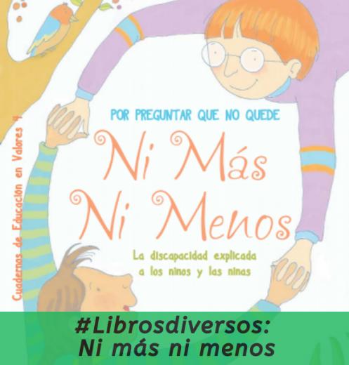 #Librosdiversos. Ni más ni menos.
