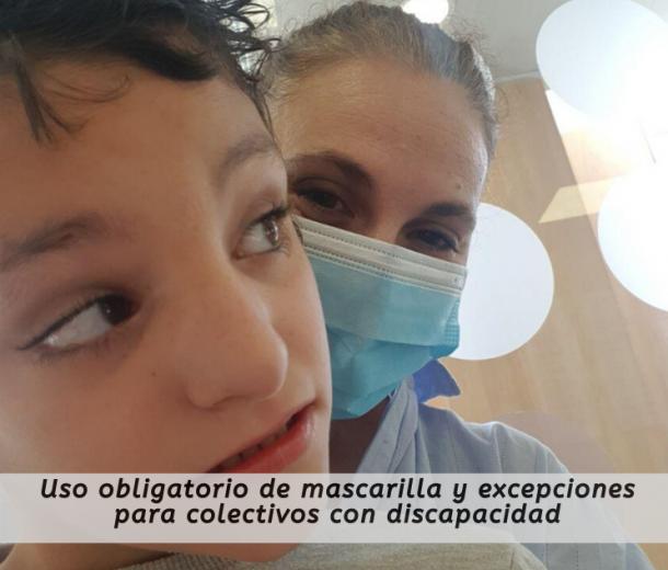 Uso obligatorio de mascarilla y excepciones para colectivos con discapacidad
