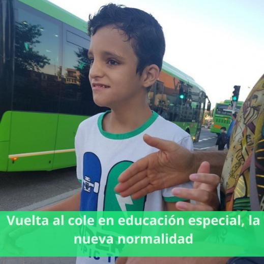 Vuelta al cole en educación especial, la nueva normalidad