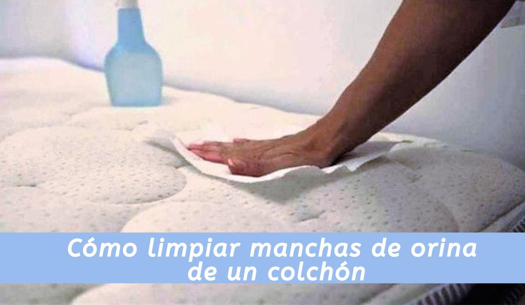 Cómo limpiar manchas de orina de un colchón
