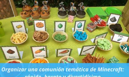 Organizar una comunión temática de Minecraft: rápido, barato y divertidísimo