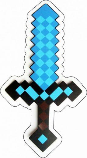 Espada azul pixelada